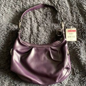 Plum shoulder bag